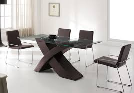 contemporary kitchen dining sets. kitchen dining sets with rectangular table made of glass and brwon chairs faux contemporary i