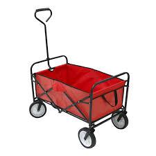 garden cart. Red Heavy Duty Foldable Garden Trolley Cart Wagon Truck