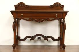 Antique hall table Small Carved 1920 Antique Walnut Server Sideboard Or Hall Table Harp Gallery Antique Furniture Sold Carved 1920 Antique Walnut Server Sideboard Or Hall Table