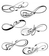 Vektorová Grafika Black Infinity Symboly V Tetování Stylu 139828874