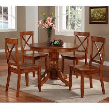 dining table chair set ce  home styles  piece pedestal dining set cottage oak