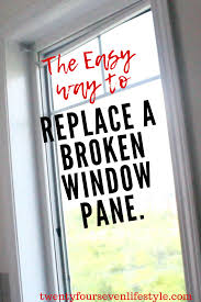 how to replace broken glass pane in
