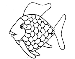 coloring pages of a rainbow best fish with page