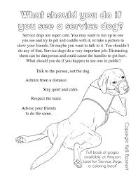 Service Dogs Coloring Book To Paint