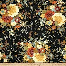 11 best images about Fabrics on Pinterest | Scarlet, Wall fabric ... & Timeless Treasures Kyoto Blossoms Metallic Large Peonies Black Adamdwight.com