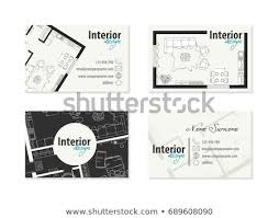 Business Card Interior Designer Decorator Stock Vector Royalty Free Extraordinary Business Cards Interior Design