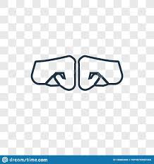 Fist Transparent Background Fist Concept Vector Linear Icon Isolated On Transparent
