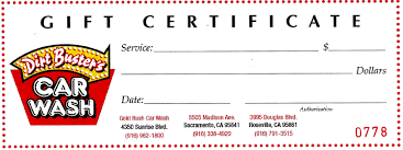 dirt buster s wash gift certificates