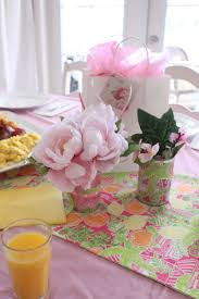 Pink And Green Home Decor Pinkish Mothers Day Brunch Table Decor Pink Cotton Tablecloth
