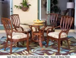 rattan dining room set. open weave rattan dining set room o
