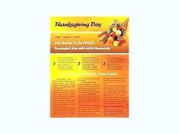 Thanksgiving Newsletter Template Free
