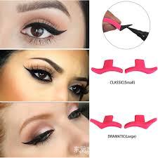 2pcs cat eye eyeliner st eyeshadow cosmetic easy to makeup wing style tools eye liner sting