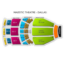 Majestic Theatre Dallas 2019 Seating Chart