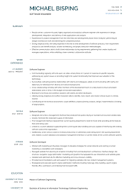 Software Engineer Resume Samples Templates Visualcv