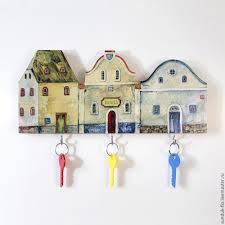 Wall mount wooden key holder ...