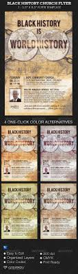 black history church flyer template on behance