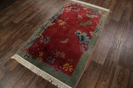 3 11 x 6 7 hand knotted wool antique chinese art deco nichols red rug 12980512