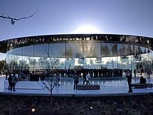 cupertino apple office. External View Of The Steve Jobs Theater At Apple Park In Cupertino, California, USA. Taken Before Beginning Apple\u0027s First Shareholder Meeting Held Cupertino Office