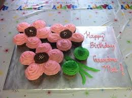 Flower Pull Apart Cupcake Cake Can Also Use For Mothers Day