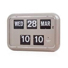 twemco retro modern germany quartz movement calendar flip wall clock qd35