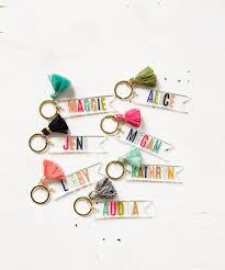custom keychain personalized lucite acrylic name keychain monogram keychain gift for her