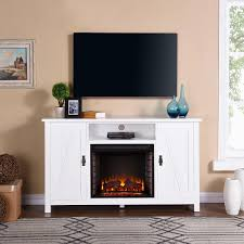 southern enterprises adderly farmhouse style 58 inch electric fireplace media console w infrared heater white fi9336 gas log guys