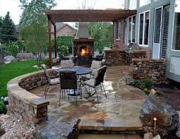 deck with fireplace patios flagstone patio stone and outdoor how much does a chicagoland screened porch