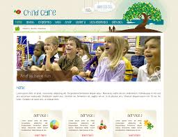 child care website fold solutions childcare website template option 1