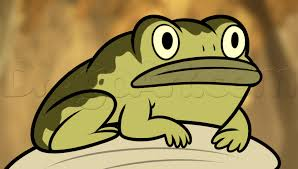 how to draw frog from the over the garden wall