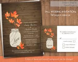 50 fall wedding invitations Printable Autumn Wedding Invitations rustic mason jar wedding invitation printable autumn wedding invitations