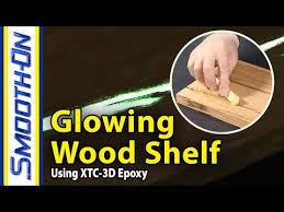 How To Make a Glow In The Dark Wood Shelf Using Epoxy Resin ...