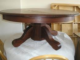 round pedestal coffee table antique pine full size
