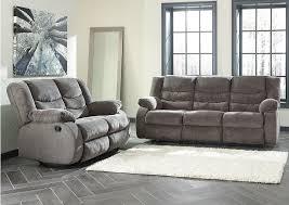 Brothers Fine Furniture Tulen Gray Reclining Sofa and Loveseat
