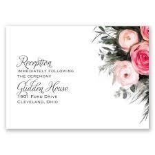 wedding reception card ethereal garden reception card invitations by dawn