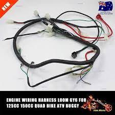 full electrics wiring loom for cc atomik motoworks wire loom wiring harness 150cc 200cc 250cc 300cc atv quad bike buggy go kart