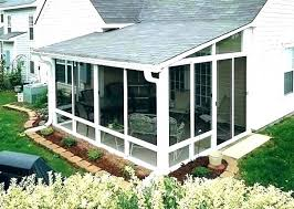 enclosed patio room cost of beautiful rooms or screen glass p four season rooms enclosed patio