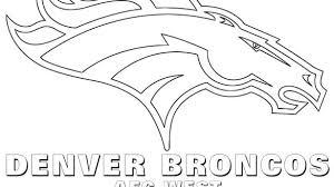Smart Ideas Bronco Coloring Pages Denver Broncos Awesome Best Logo