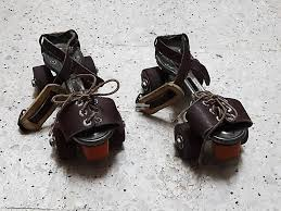 vintage seiko roller skates real leather antique metal
