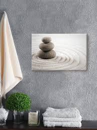 spa canvas wall art zen rocks home