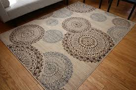 wool area rugs. Amazon.com: New City Contemporary Modern Flowers Circles Wool Area Rug, 5\u00272 X 7\u00273, Beige: Kitchen \u0026 Dining Rugs