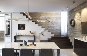 View in gallery Townhome dining room filled with interesting features