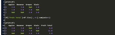 sum multiple columns of a dataframe