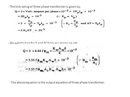 output equation of single phase transformer ppt power relationship line quantities