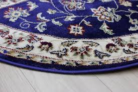 picture of sincerity sherbourne navy blue oriental half moon rug