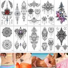 сексуальный грудь татуировки дизайн временные ювелирные изделия ожерелье кулон