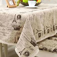 small tablecloths hot universal linen coffee table cover with crown pattern for picnic or wedding