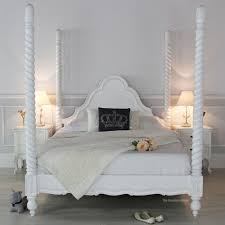 Poster Bedroom Furniture French Chateau White Painted Four Poster Bed Archives The