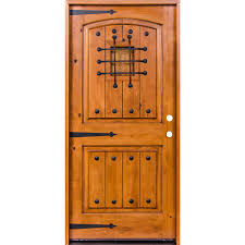 unfinished front doorKrosswood Doors 435 in x 81625 in Mediterranean Knotty Alder