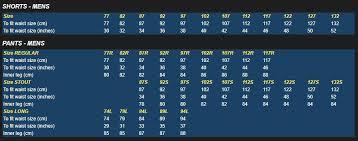 Bisley Size Chart Bisley Size Symbols Guide