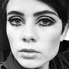 we used to draw our bottom lashes with liner 60s make upwhite eyeliner makeup70s eye